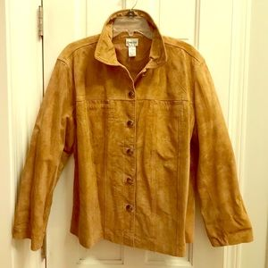 Chico's leather suede jacket; fun buttons